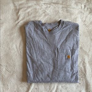 Grey Carhartt long sleeve T-shirt
